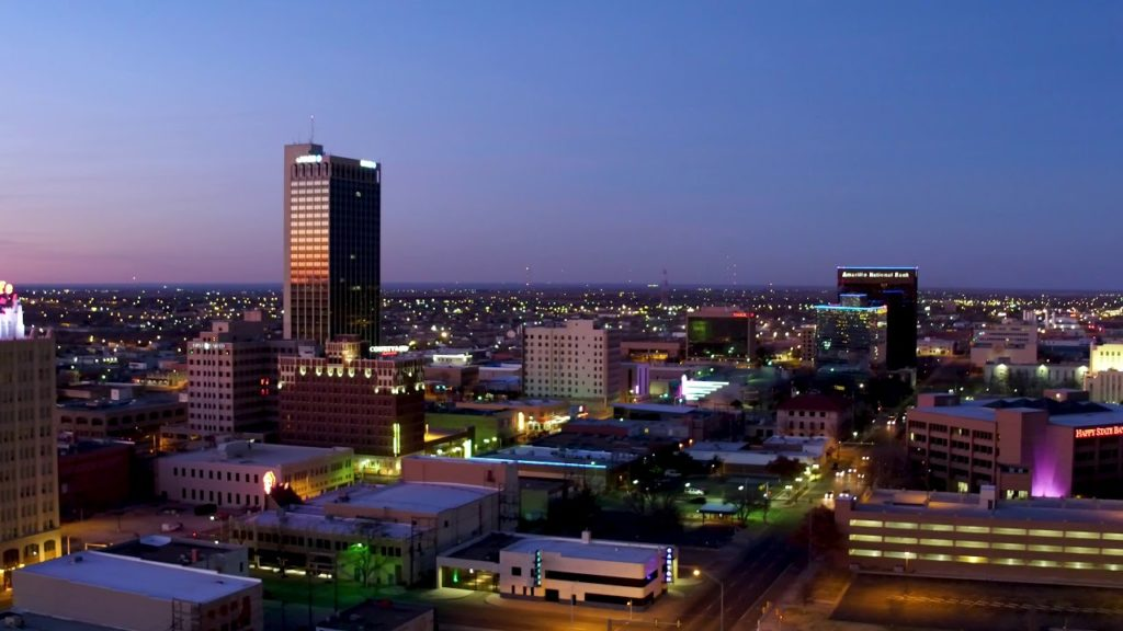 Downtown Amarillo at night